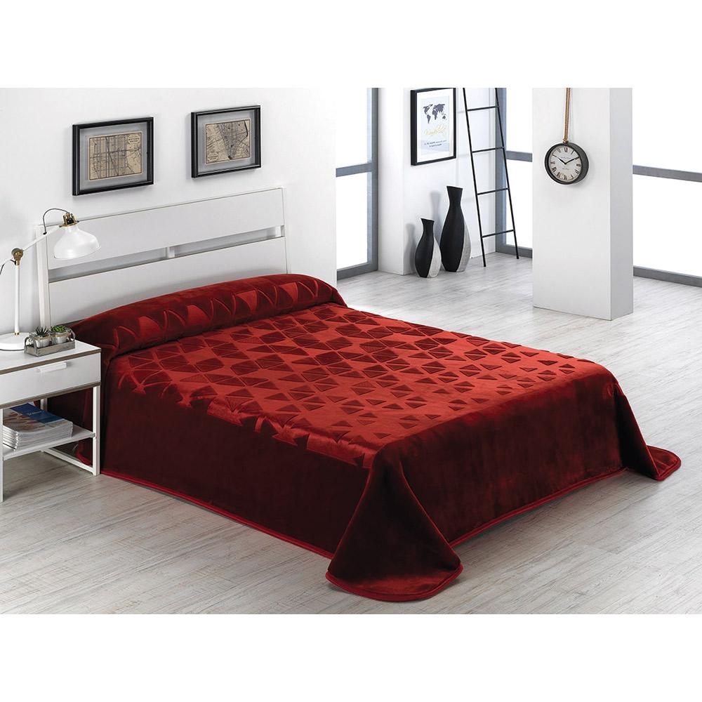 Κουβέρτα αναγλύφη SERENA G18(37) BORDO