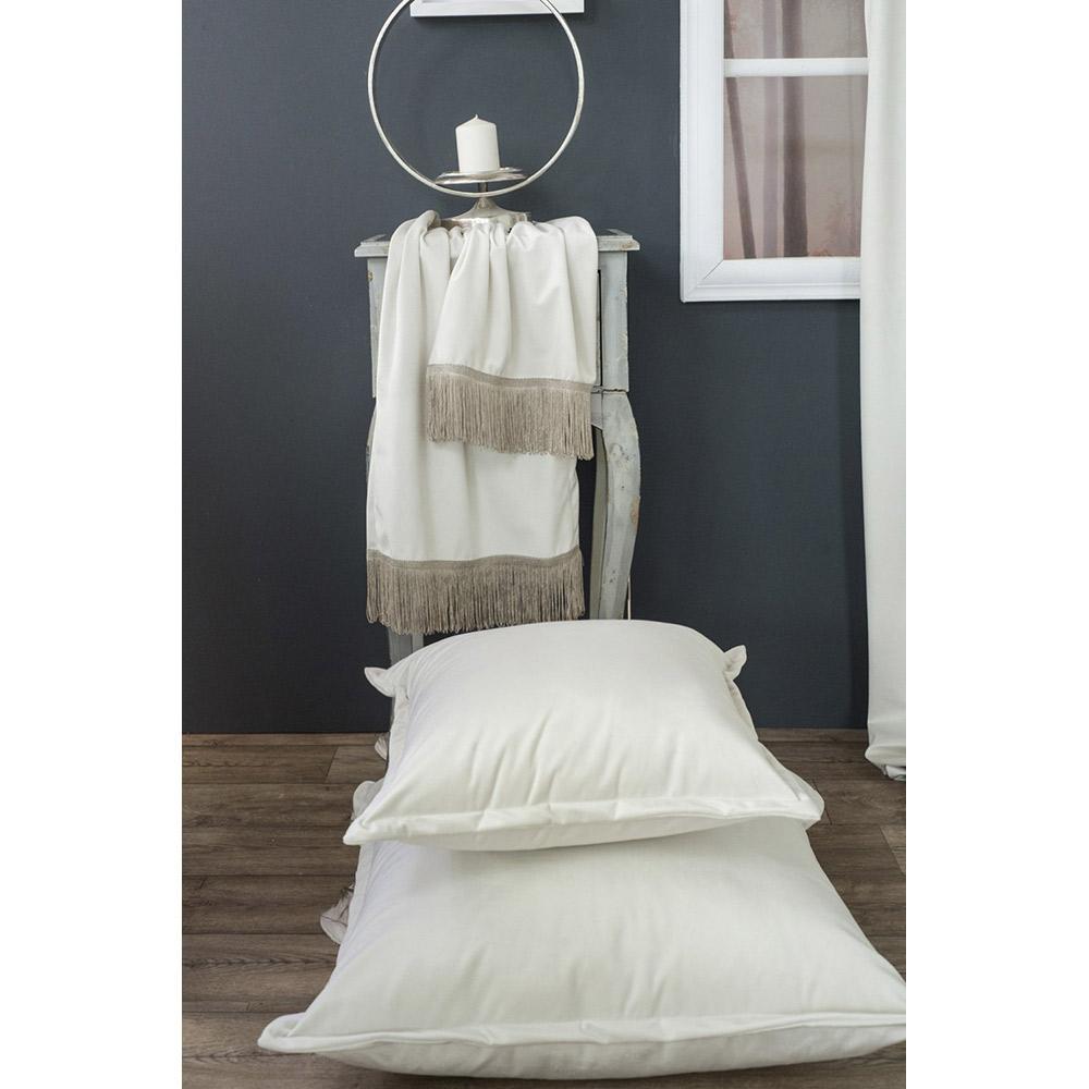 Διακοσμητικό μαξιλάρι καναπέ VELVET IVORY 01