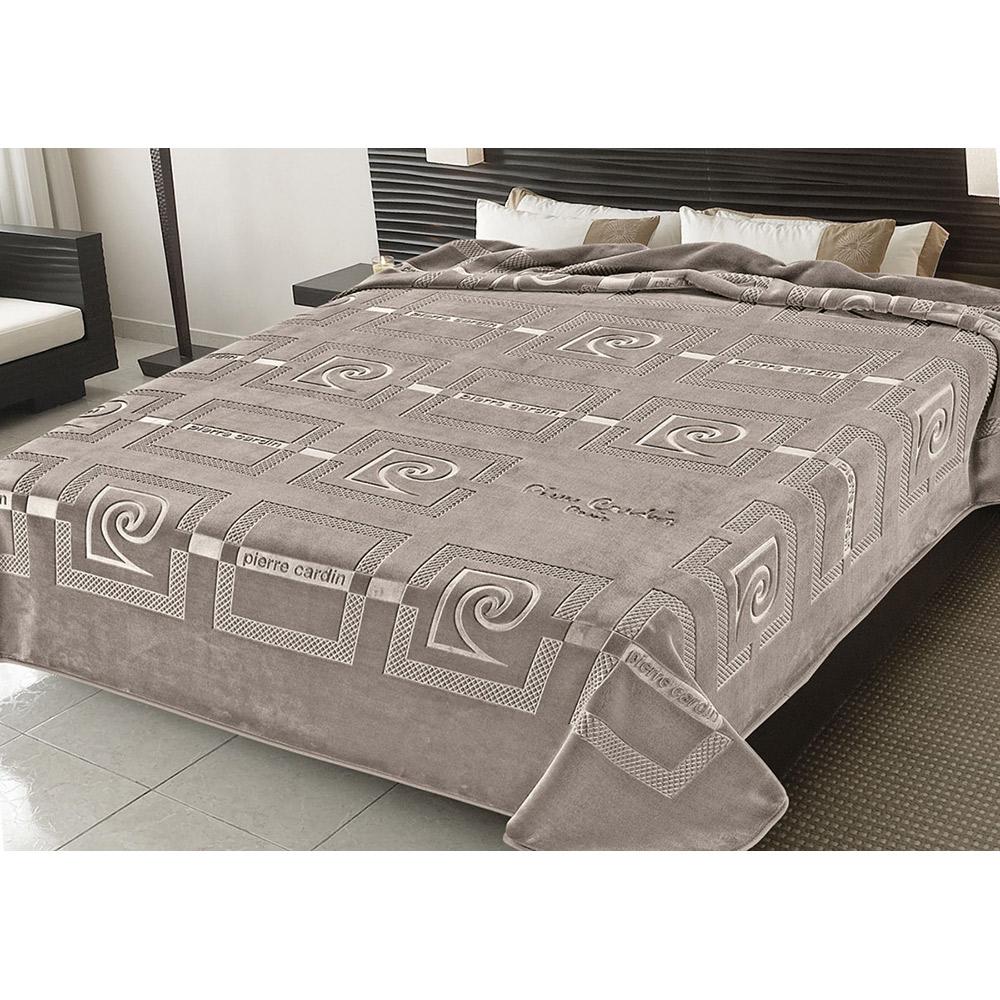 Κουβέρτα ανάγλυφη PIERRE CARDIN TAUPE 55-657