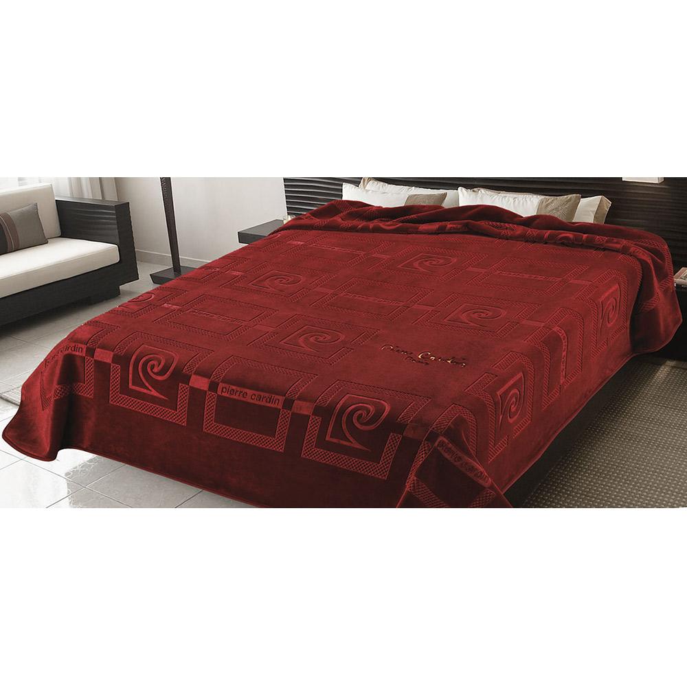Κουβέρτα ανάγλυφη PIERRE CARDIN GRANATE 16-657