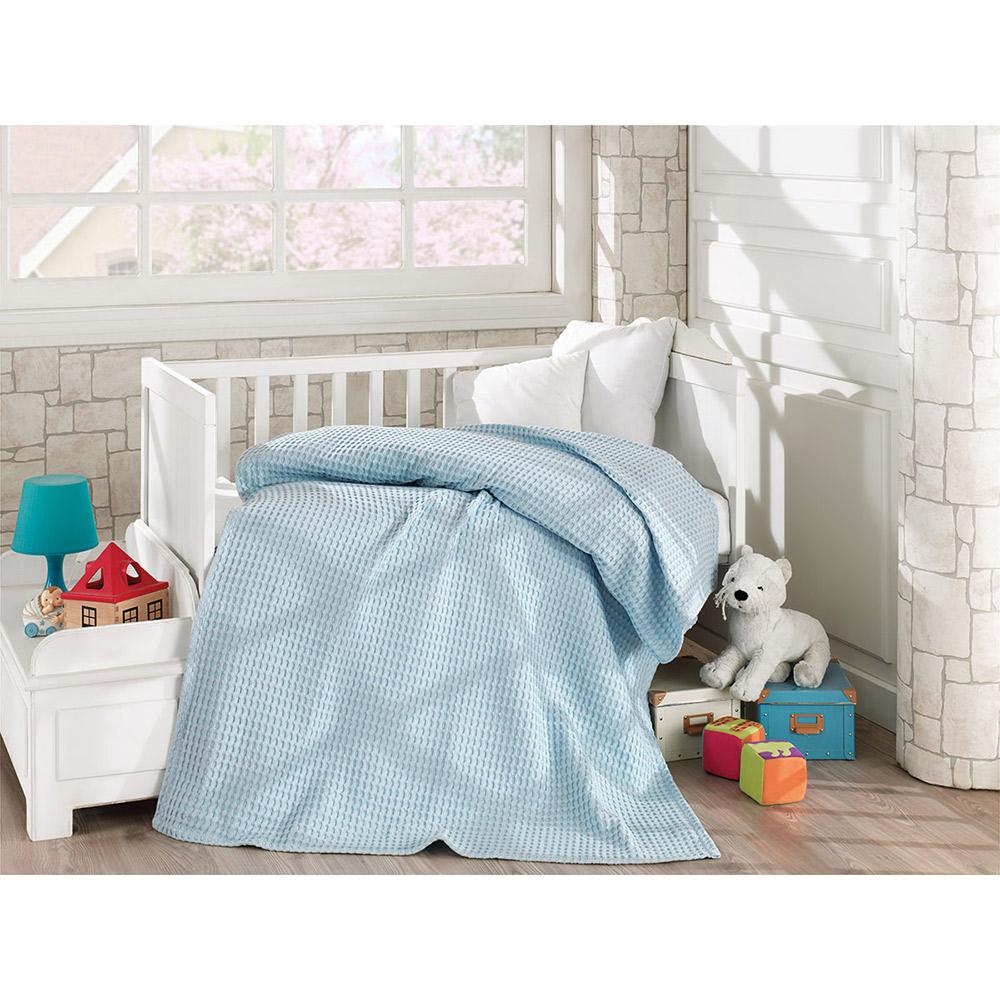 Κουβέρτα πικέ βαμβακερή 5116 Ciel
