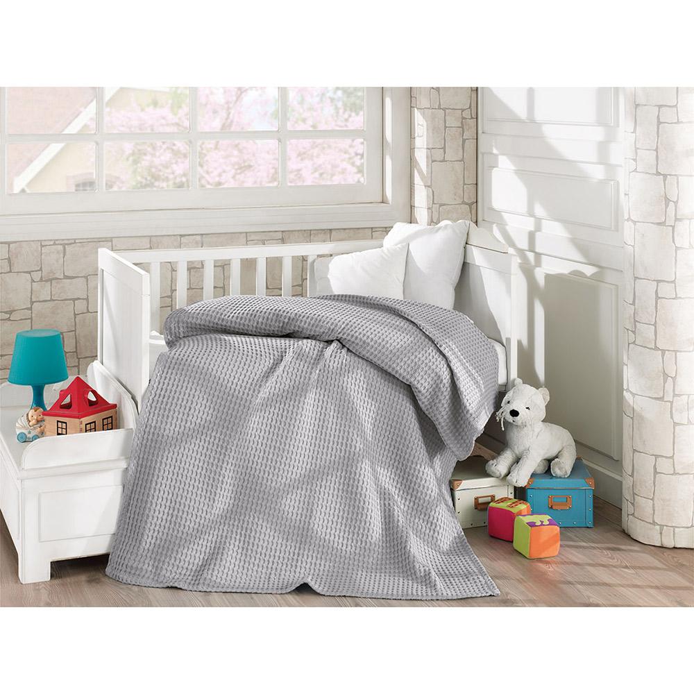 Κουβέρτα πικέ βαμβακερή 5116 Grey