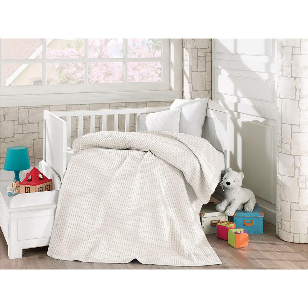 Κουβέρτα πικέ βαμβακερή 5116 Ecru