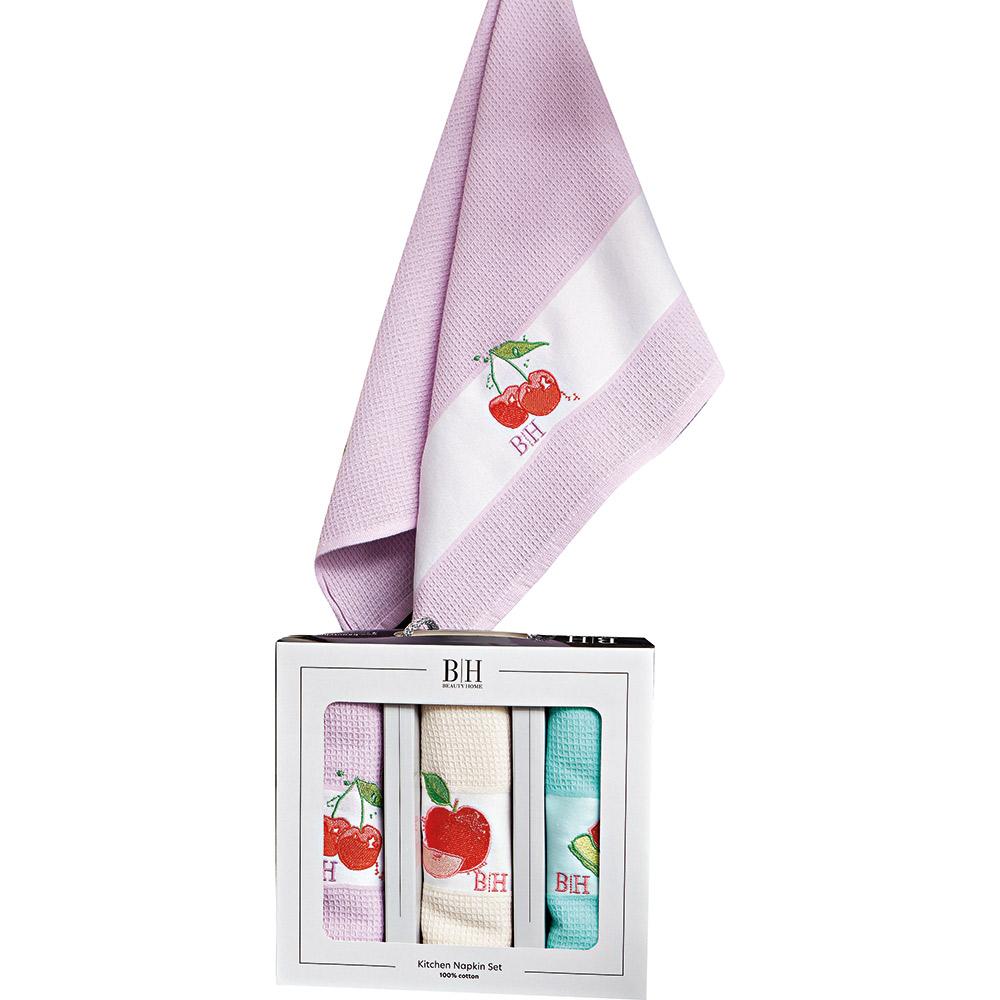 Σετ ποτηρόπανα (3ΤΜΧ) Fruits 8286 ΣΙΕΛ/ΛΙΛΑ/ΜΠΕΖ